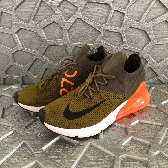 Nike Shoes Sold Air Max 270 Flyknit Mens Olive Black Poshmark